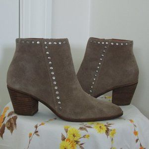 Lucky Brand grey leather ankle booties size 6.5M